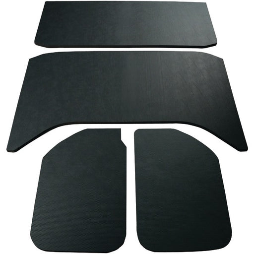 DEI 050159 2011-2016 Jeep Wrangler Sound Deadening Headliner 4-Door Leather Look, Black - 4 Piece