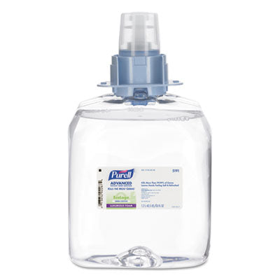 PURELL FMX-12 Advanced Green Certified Hand Sanitizer Foam, Fragrance Free, 1200 mL EcoLogo Certified Sanitizer Refill for PURELL FMX-12 Touch-Free Dispenser (Case of 3) – 5191-03