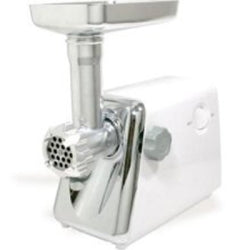 Electric Meat Grinder, 250 Watt, with 3 Cutting Plates, Kubbe Attachment, Food Stuffer, Sausage Tube