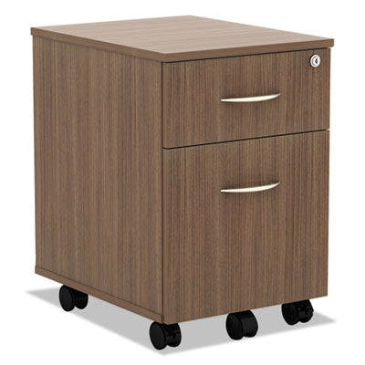 Alera ALEVABFWA Valencia Series Mobile Box/File Pedestal, 15 7/8 x 19 1/8 x 22 7/8, Walnut