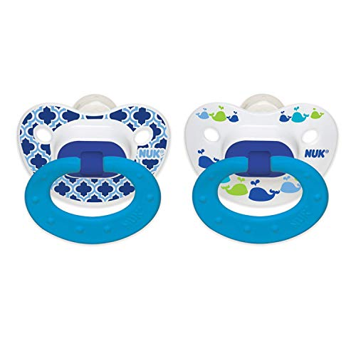 NUK Marrakesh & Whales Puller Pacifier, Colors and Pattern May Vary,18-36 Months
