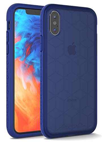 Impact Gel Compatible with Apple iPhone X/Xs Crusader Chroma Series Protective Case (Sapphire)
