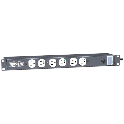 Tripp Lite 12 Outlet Rackmount Medical-Grade PDU Power Strip, NOT for Patient-Care Area, 15ft Cord, 5-15P-HG Plug (RS1215-HG)
