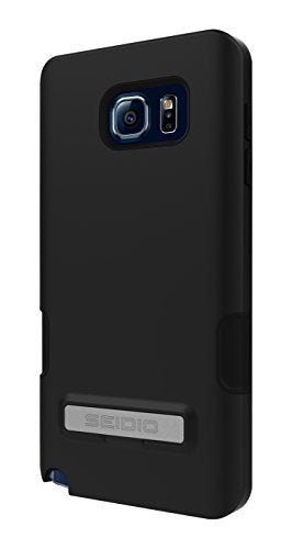 Seidio DILEX Pro with Metal Kickstand Case for Galaxy Note 5 [Dual-Layer Protection] - Carrier Packaging - Black
