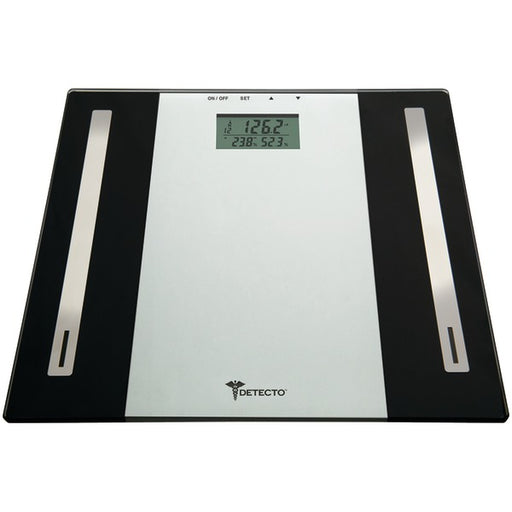 Detecto 6-in-1 Glass Digital Body Fat Scale with LCD Display 10-User Memory and Touch-Button Controls