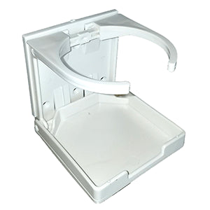 Innovative Lighting Adjustable Fold-Down Cup Holder - No Hardware - White