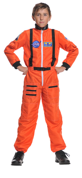 Underwraps Kid's Astronaut, Orange, Large
