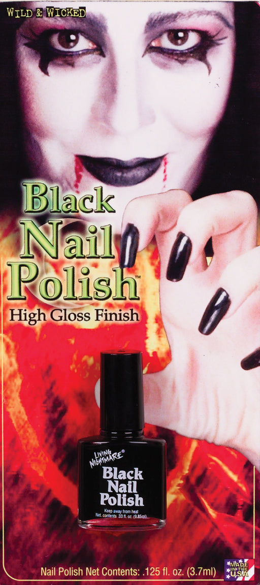 Costumes For All Occasions Fw9474Bk Nail Polish Black