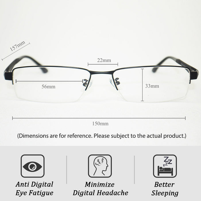 Kingmate Clear Lens Plain Glasses - Vintage Square Eyewear Non Prescription Glasses, Block Blue Light, Reduce Digital Eye Strain - Near Clear Lens, Eyewear G-04