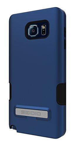 Seidio DILEX Pro with Metal Kickstand Case for Galaxy Note 5 [Dual-Layer Protection] - Carrier Packaging - Royal Blue
