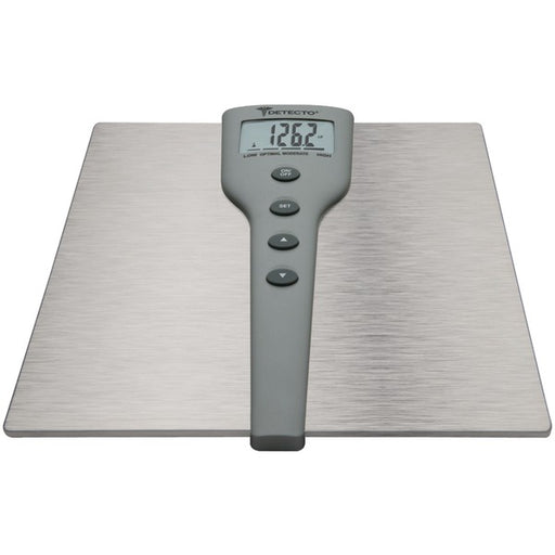Detecto Stainless Steel LCD 5-in-1 Body Fat Scale, 5 Pound