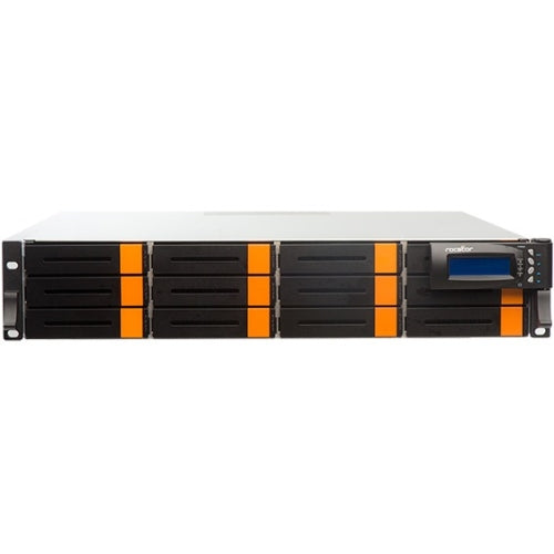 Rocstor Enteroc F1620 SAN Array- 12x HDD Supported - 12 x HDD Installed - 48 TB Installed HDD Capacity- 12 x Total Bays - 16Gb/s Dual Fibre Channel Ports - Enterprise Serial Attached SCSI (SAS 6GB/s) HDD - Ethernet - Dual Power Supply- 2U Rack-mountable