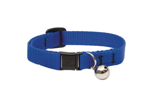 "LupinePet Basics 1/2"" Blue Cat Safety Collar with Bell , 8-12"""