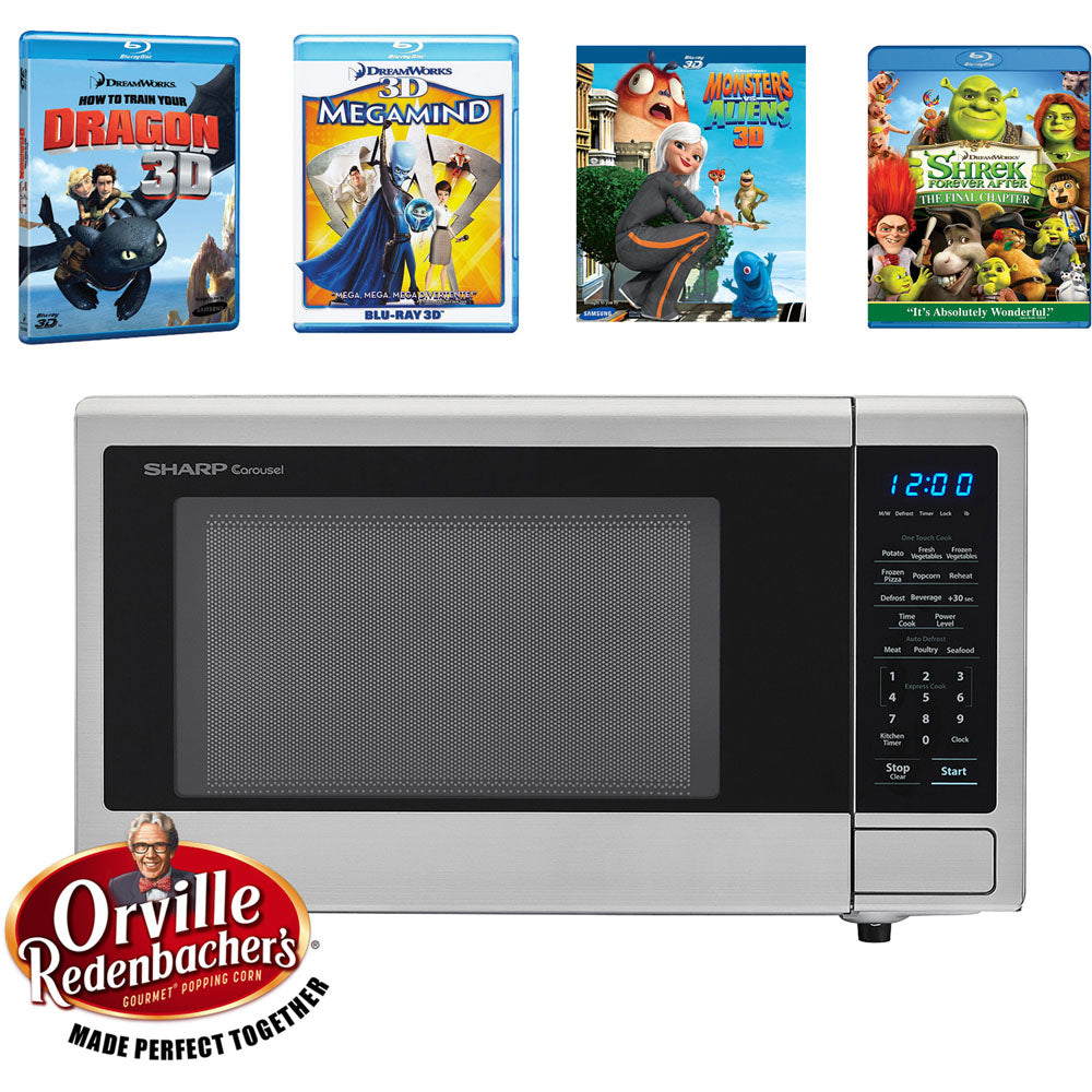 Sharp Movie Night with Orville Redenbachers Certified 1.1 cu. ft.