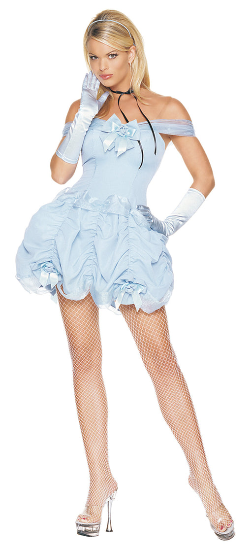 Southern Belle Sexy Holiday Party Costume (Light Blue;Large)