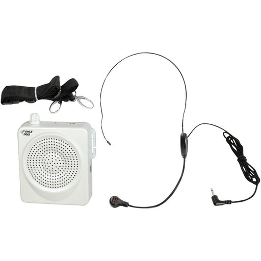 PylePro PWMA50W Public Address System - 50 W Amplifier - Built-in Amplifier - 1 x Speakers - Battery Rechargeable - 12 Hour - White