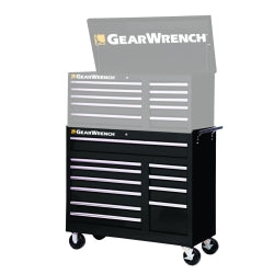 "GEARWRENCH 83127BU 42"" 11 Drawer TEP Series Blue Roller Cabinet, Black"