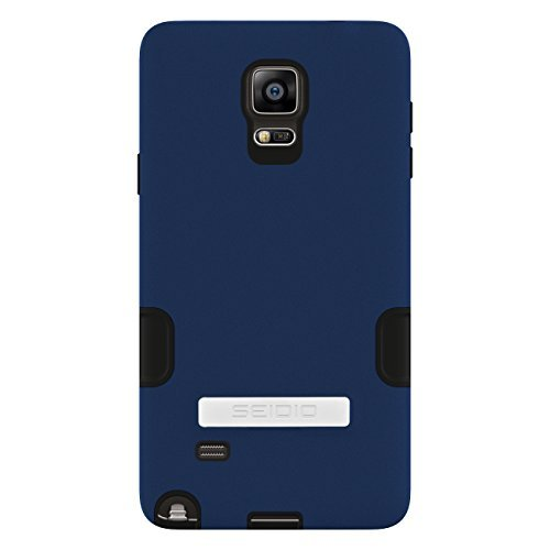 Seidio DILEX Pro with Metal Kickstand Case for Samsung Galaxy Note 4 - Retail Packaging - Royal Blue