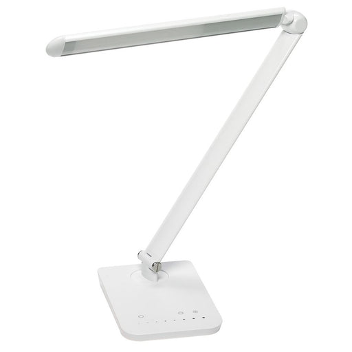 Safco Products 1001WH Vamp LED Modern ABS Desk Lamp with USB Port and Dimmer Switch, White