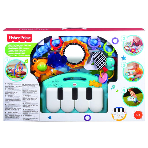 Fisher-Price Kick & Play Piano Gym - Four Ways to Play - Lay and Play - Tummy Time - Sit and Play - Take Along - Soft Comfy mat