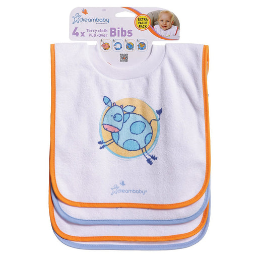 Dreambaby Pull Over Bibs 4 Pack - Farm