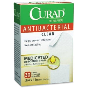 Curad Antibacterial Clear Bandages