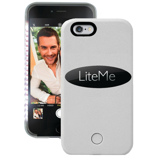 iPhone 6 6s Selfie Light LED Illuminated Battery Charger Case - SereneLife LiteMe, White