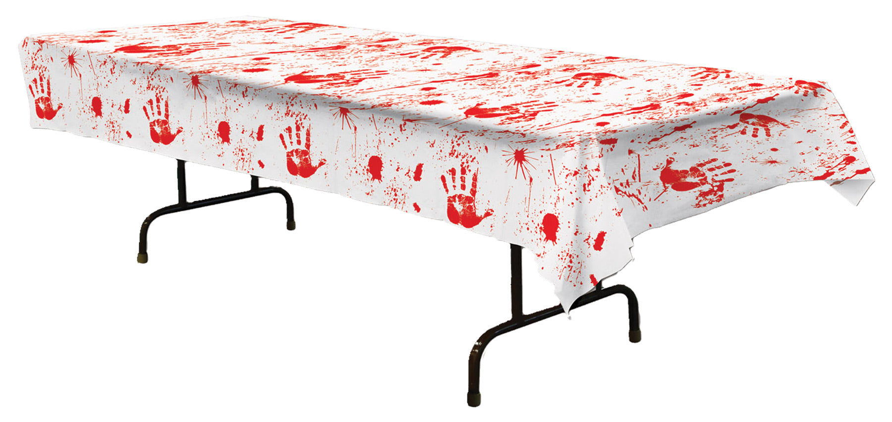 Beistle 00027 Bloody Handprints Tablecover - Case of 12