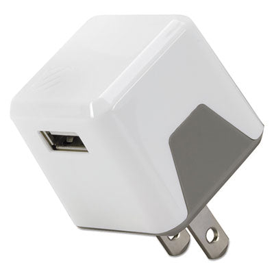 SCOSCHE USBH121WT SuperCube Flip 12W Single USB Port Wall Charger for All USB Devices - White