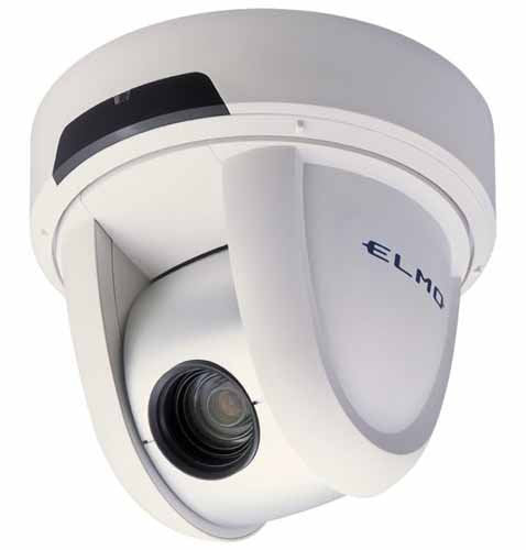 Elmo 9760-2 model PTC-400C Indoor PTZ Dome Color Camera with 12x Optical Zoom, Day Night Function and Remote Control - 12 VDC