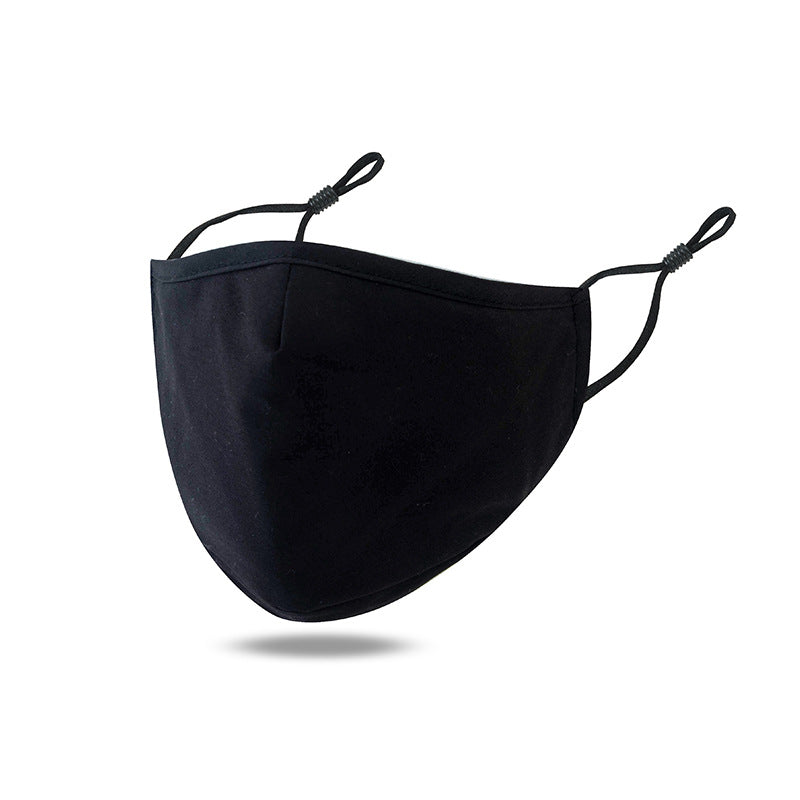 FM226 breathable comfortable adjustable washable reusable plain cotton face mask with filter slot
