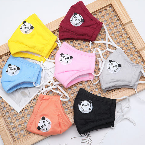 FM903 breathable comfortable adjustable reusable panda valve face mask for kids