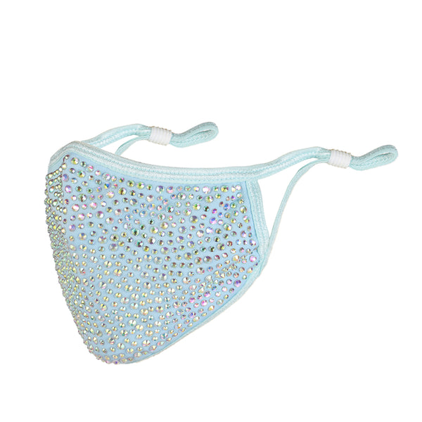 FM136 breathable comfortable adjustable reusable sparkly sequin diamante face mask