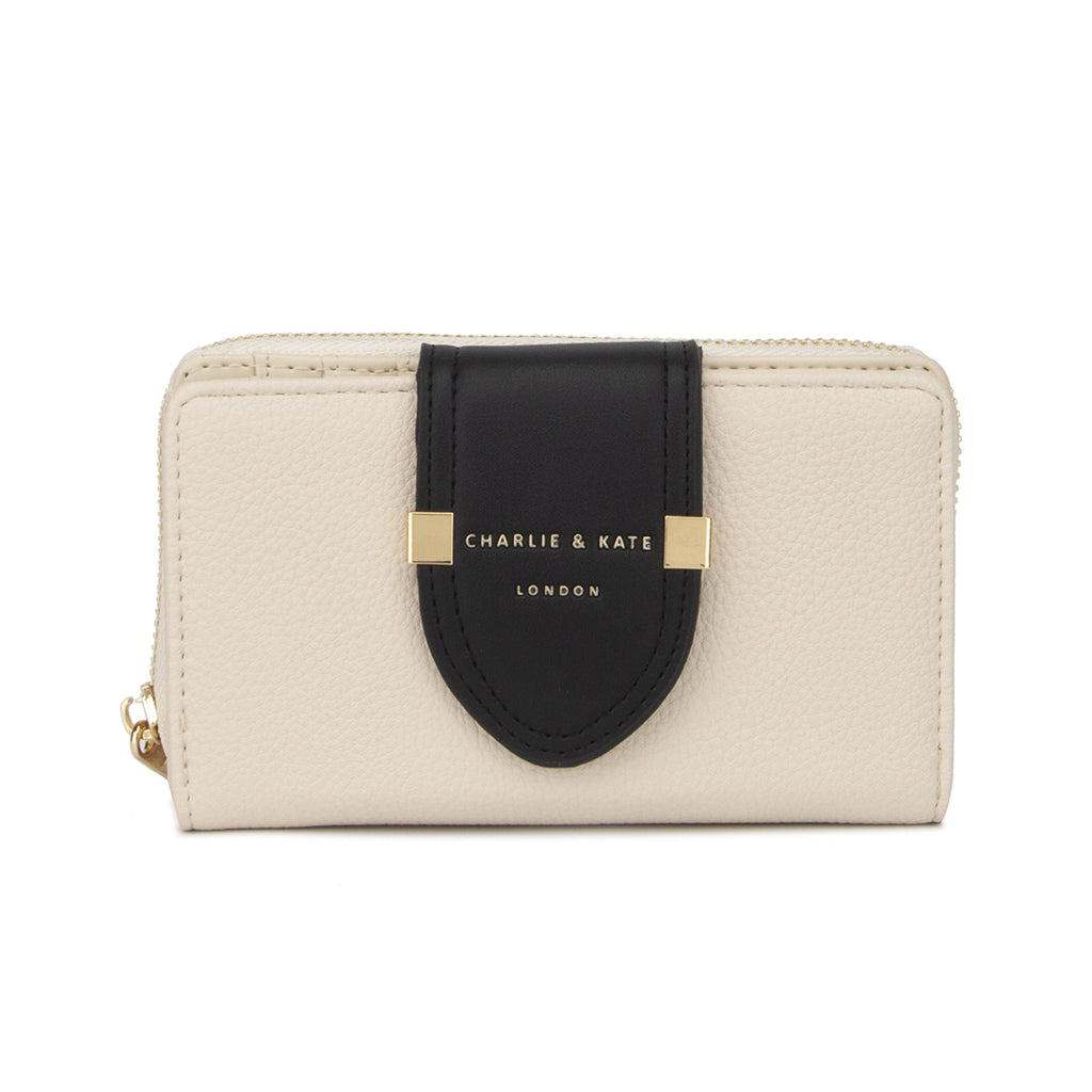 TIFFANY PURSE CREAM/BLACK - Charlie & Kate