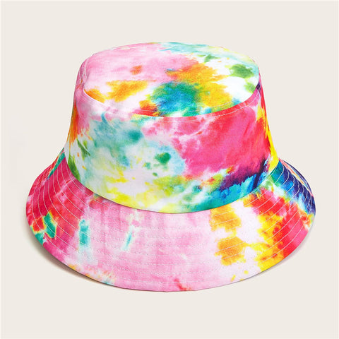 CK50004 Bucket hat in cotton twill multi colored pattern