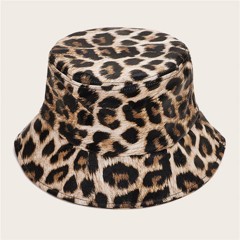 CK50005 Bucket hat in cotton twill leopard pattern
