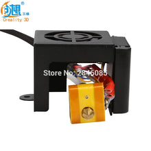 Creality 3D Fully Assembled Extruder Kit With 2PCS Fans Fan Cover Air Connections Nozzle Kits for CR-10 Series 3D Printer Parts