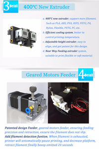 Creatbot F430 3D Printer Dual Extruder 400*300*300mm Tested & Ready