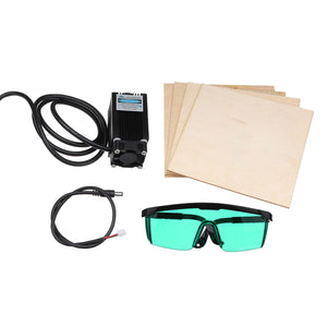 12V Blue Violet Laser Engraving Head Set With Glasses Wood Plates Module For Creality CR-10