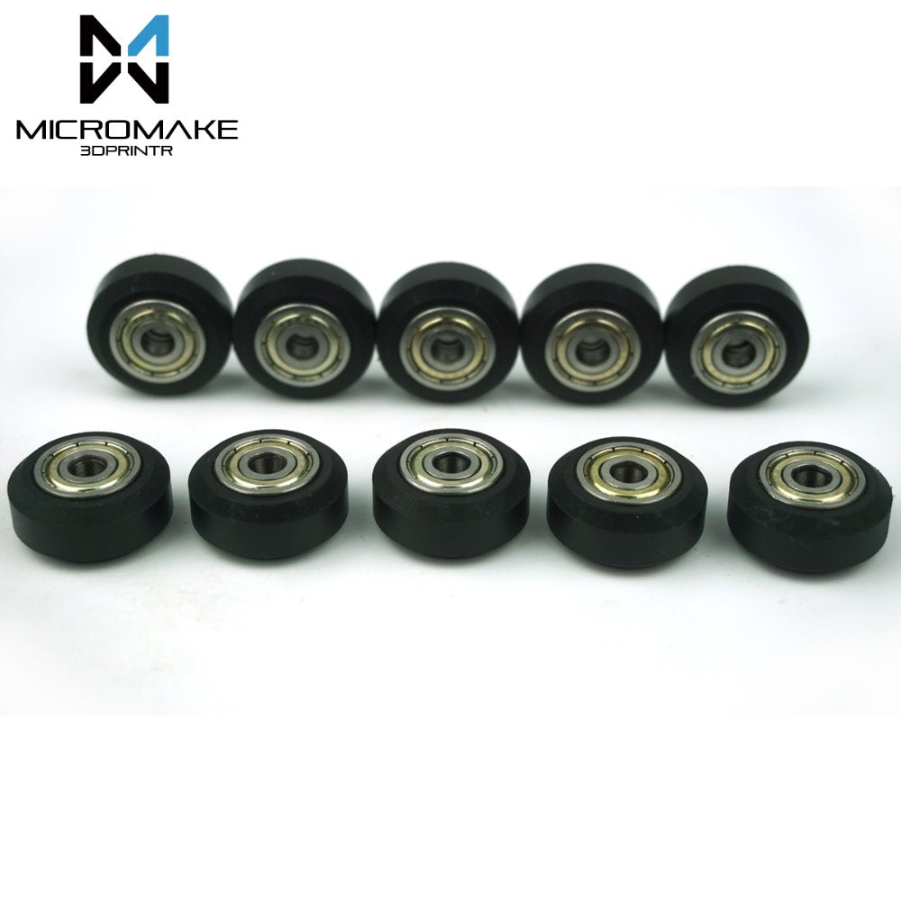3D Printer Parts 10pcs High Tolerance CNC Solid V Wheel Kit for V-slot Delrin