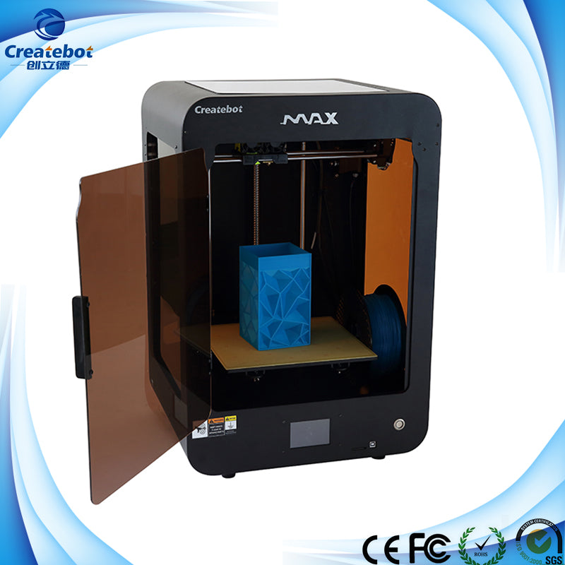 Createbot Max 3D Printer 280 x 250 x 400 Build Size 2017 Update