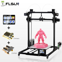 FLSun Large Print Size 3D Printer Touch Screen Dual Extruder Two Rolls Filament Gift