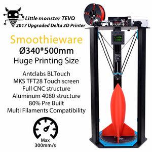 TEVO Little Monster Delta 3D Printer D340*500mm MKS TFT28 BL Touch