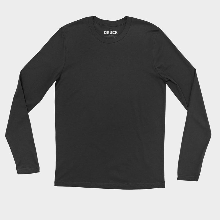 Druck Sparky Men's Long Sleeve Fitted Crew