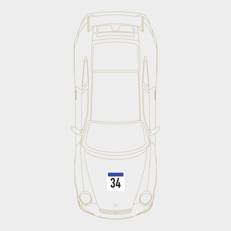 Druck Group B Number Plate in White/Blue: 2-Pack Kit