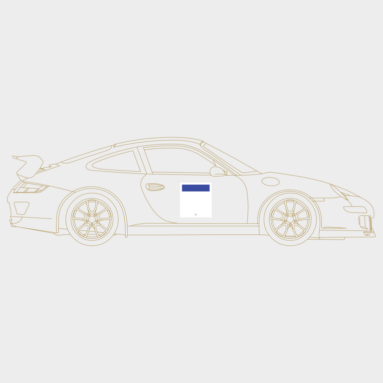 Druck Group B Number Plate in White/Blue