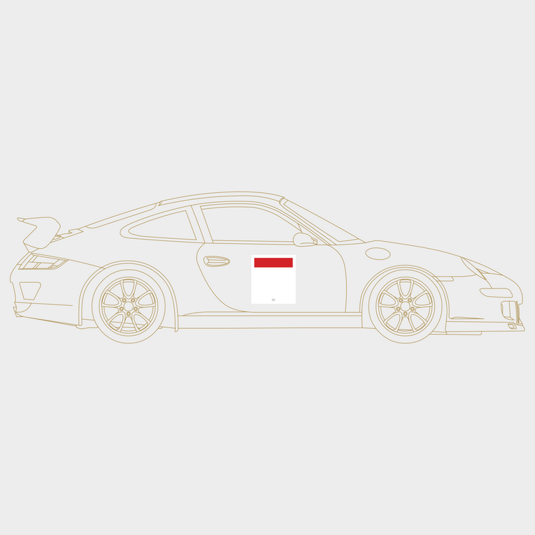 Druck Group B Number Plate in White/Red