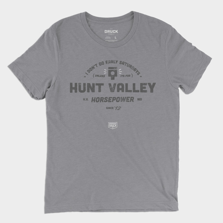 "Druck x Hunt Valley Horsepower ""Saturdays"" Men's Tee"