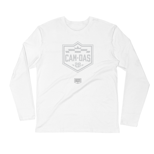DRUCK CAM DAS #28 BADGE Long Sleeve Fitted Crew