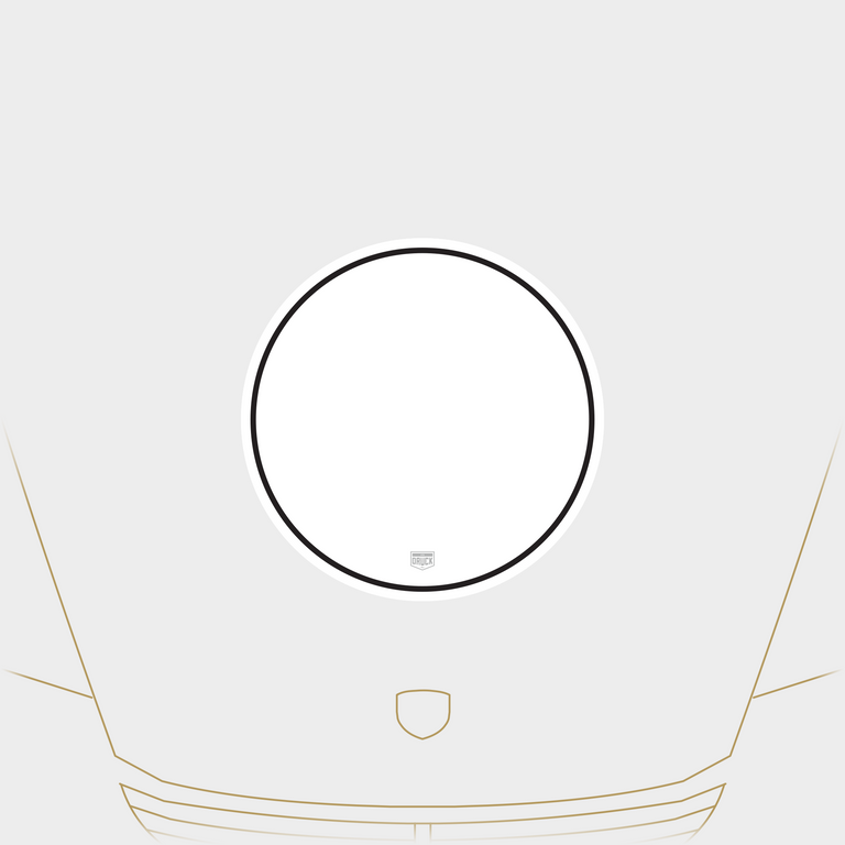 Druck Monaco Rally Meatball Number Plate in White